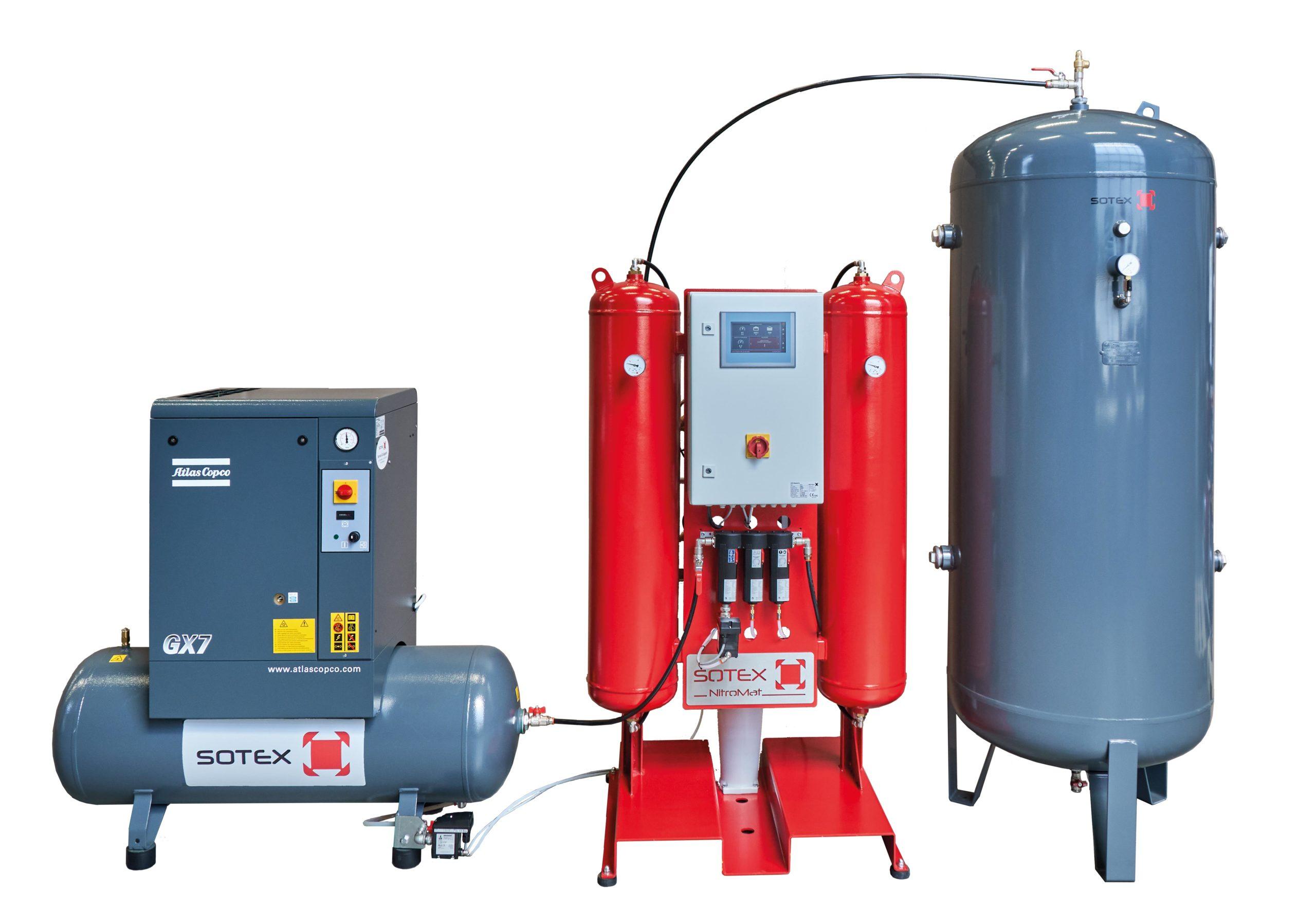SOTEX stikstof expansiesysteem compleet